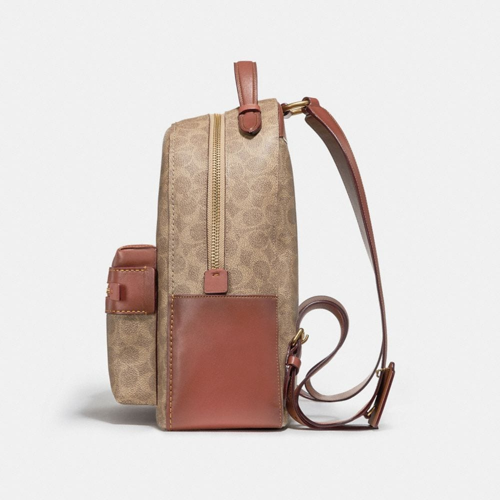 Coach Campus Backpack in Signature Canvas Alternate View 1