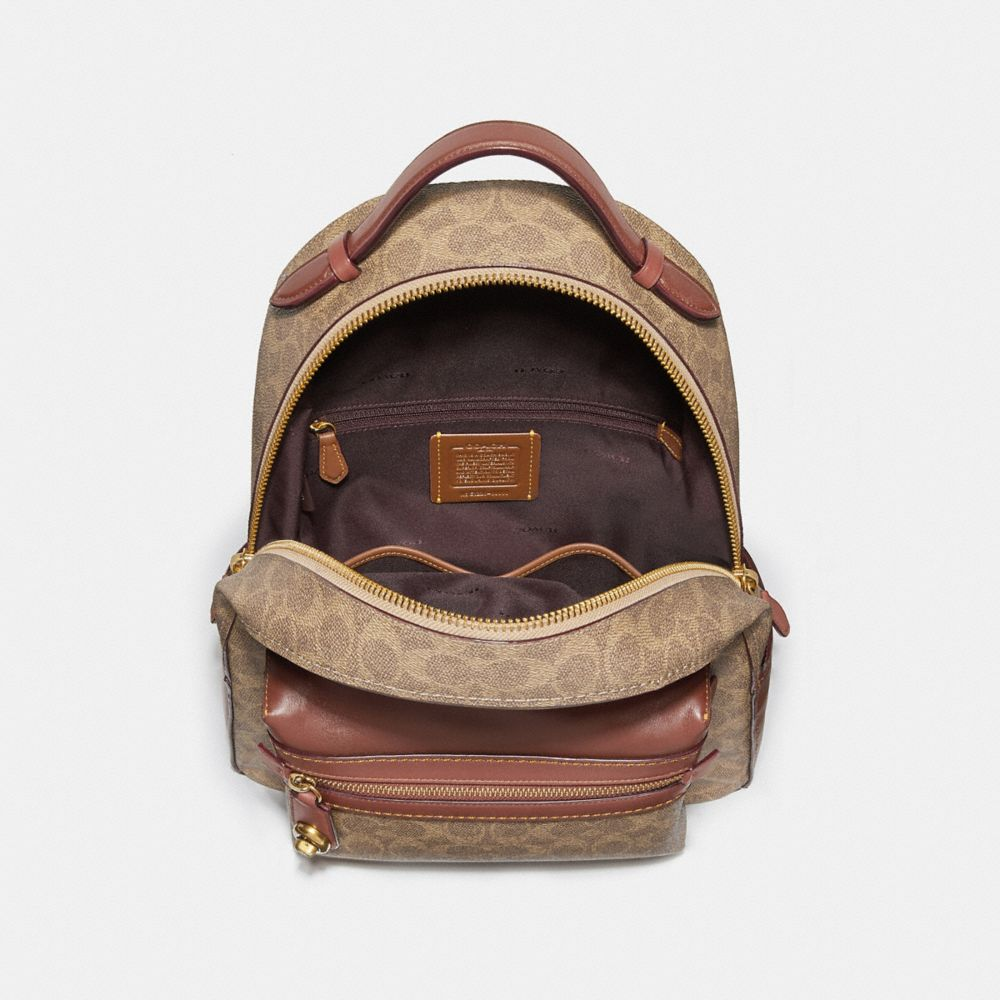 Coach Campus Backpack in Signature Canvas Alternate View 2