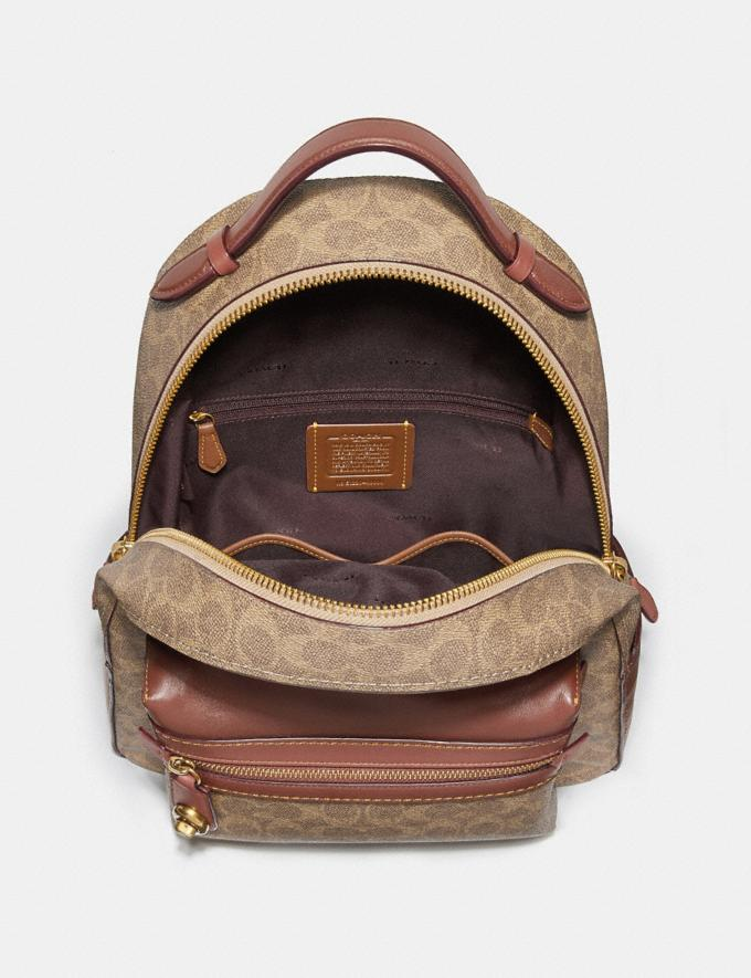 Coach Campus Backpack in Signature Canvas Tan Rust/Brass Men Bags Signature Bags Alternate View 2