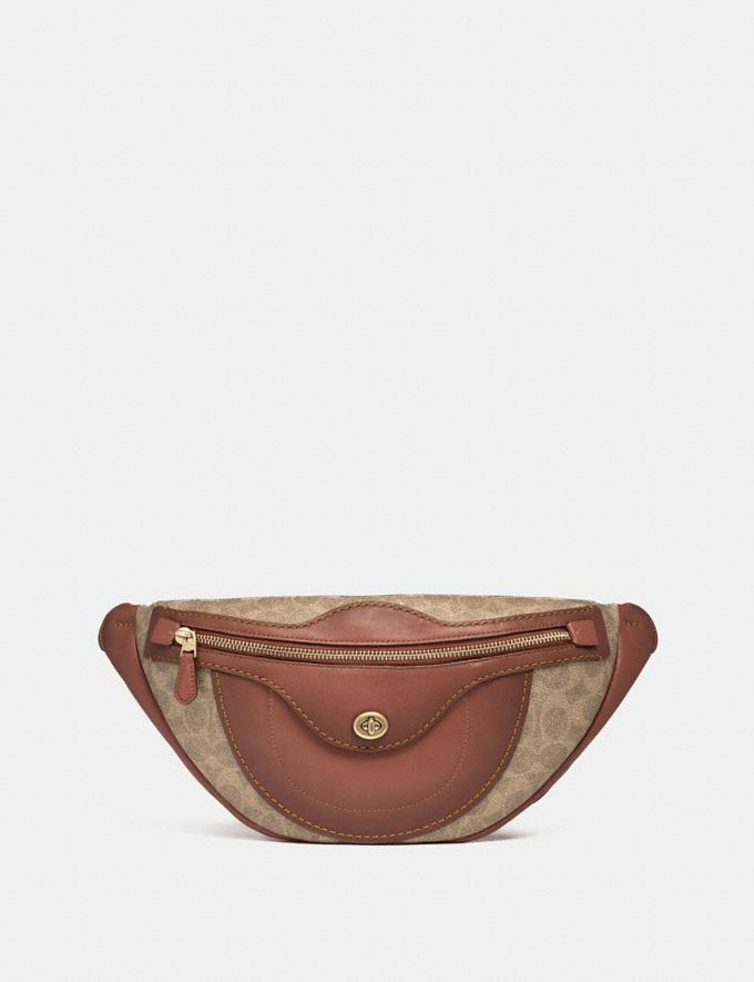 Coach Campus Pack in Signature Canvas Tan/Rust/Brass Women Bags Crossbody Bags