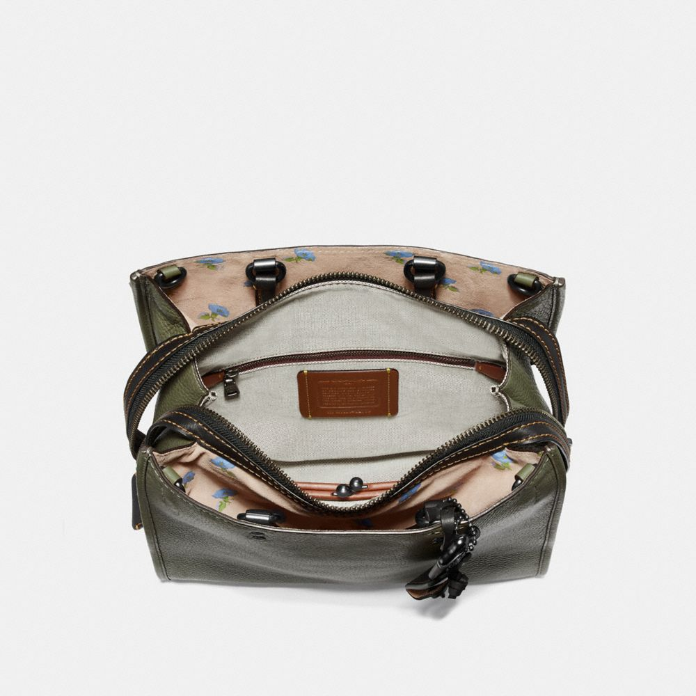 Coach Rogue With Bell Flower Print Interior Alternate View 2