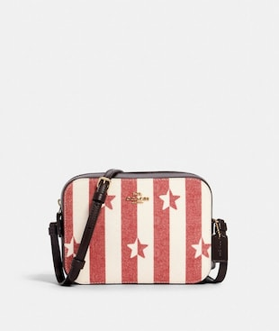 MINI CAMERA BAG WITH STRIPE STAR PRINT