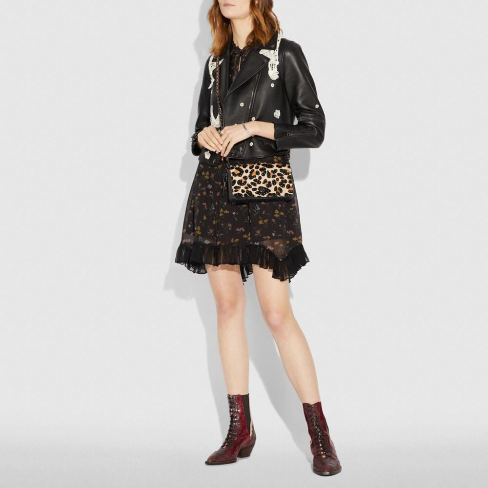 Coach Dinky With Embellished Leopard Print Alternate View 3
