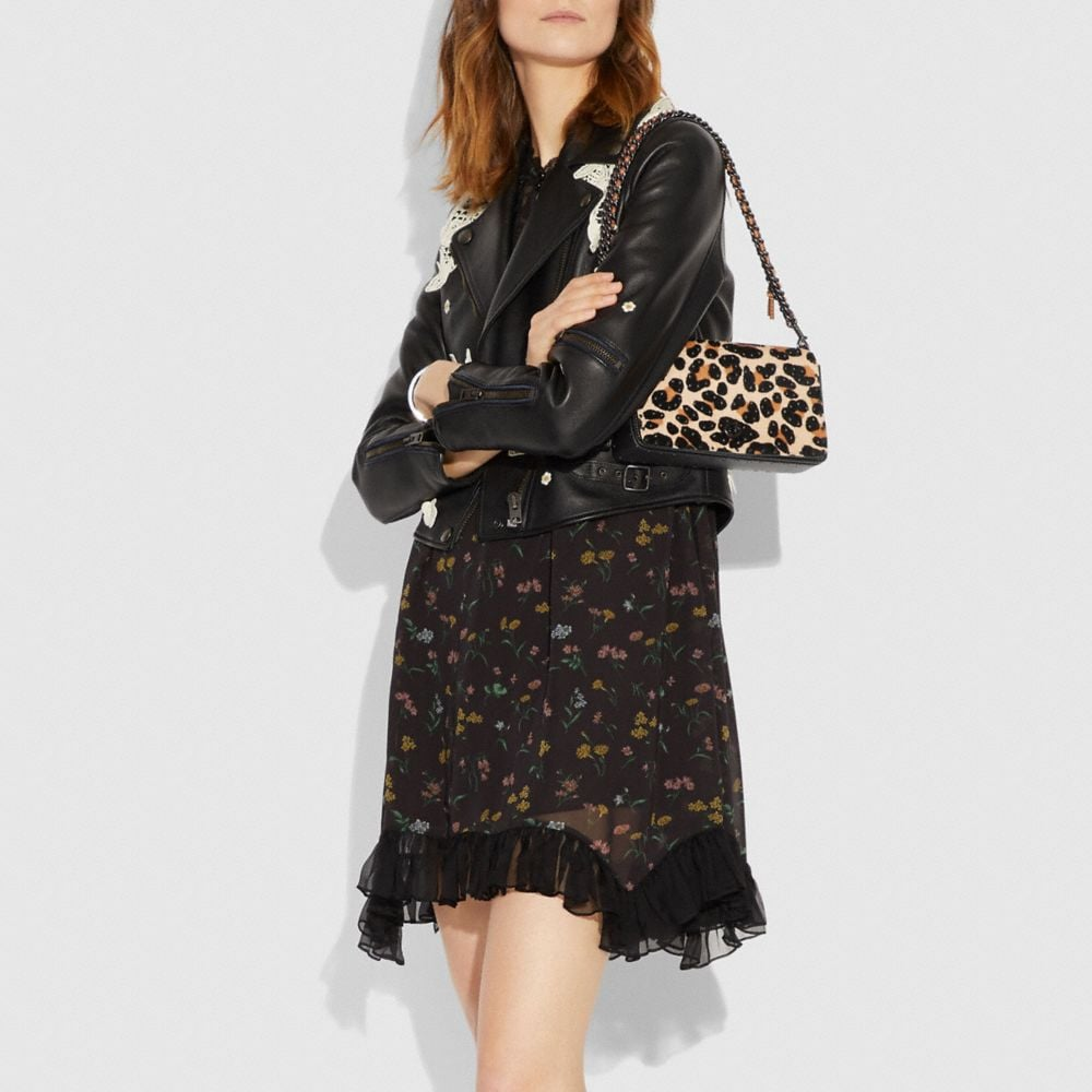 Coach Dinky With Embellished Leopard Print Alternate View 4