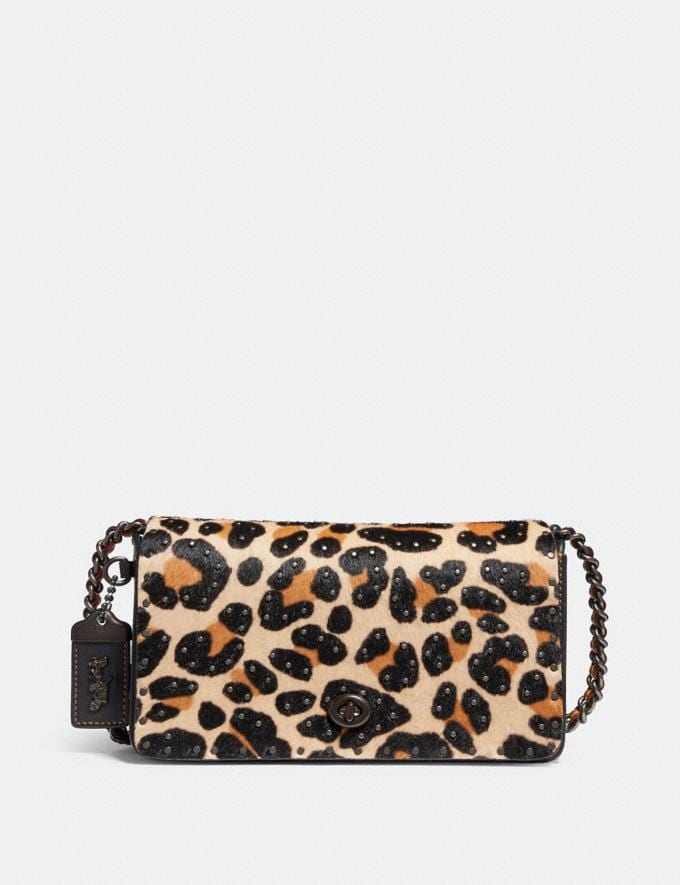 5d1b2faead76 Coach Dinky With Embellished Leopard Print Leopard/Black Copper SALE  Featured New to Sale
