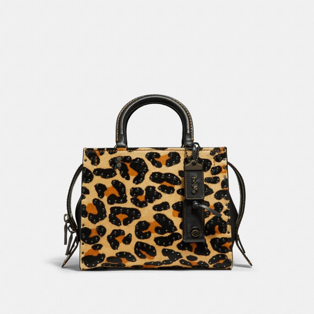 Coach Rogue 25 With Embellished Leopard Print