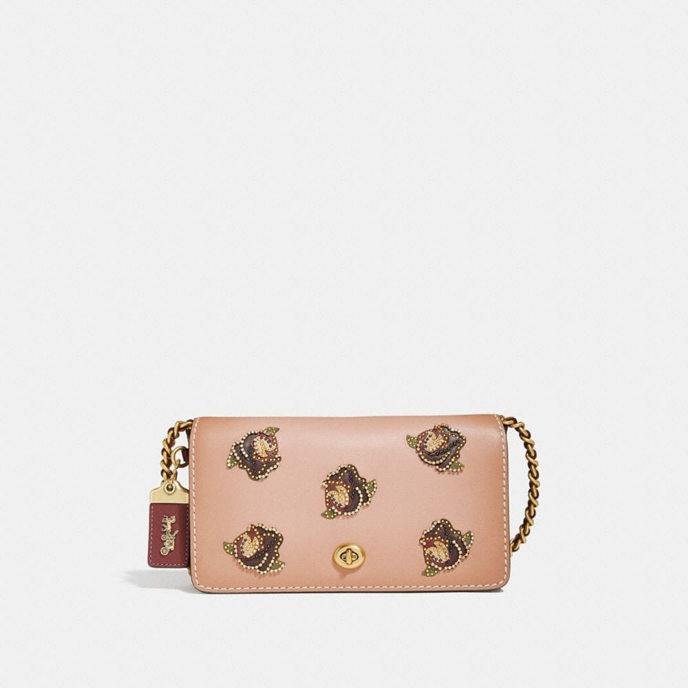 COACH DINKY WITH ROSE APPLIQUE - WOMEN'S
