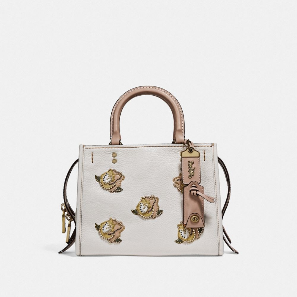 COACH ROGUE 25 WITH ROSE APPLIQUE - WOMEN'S