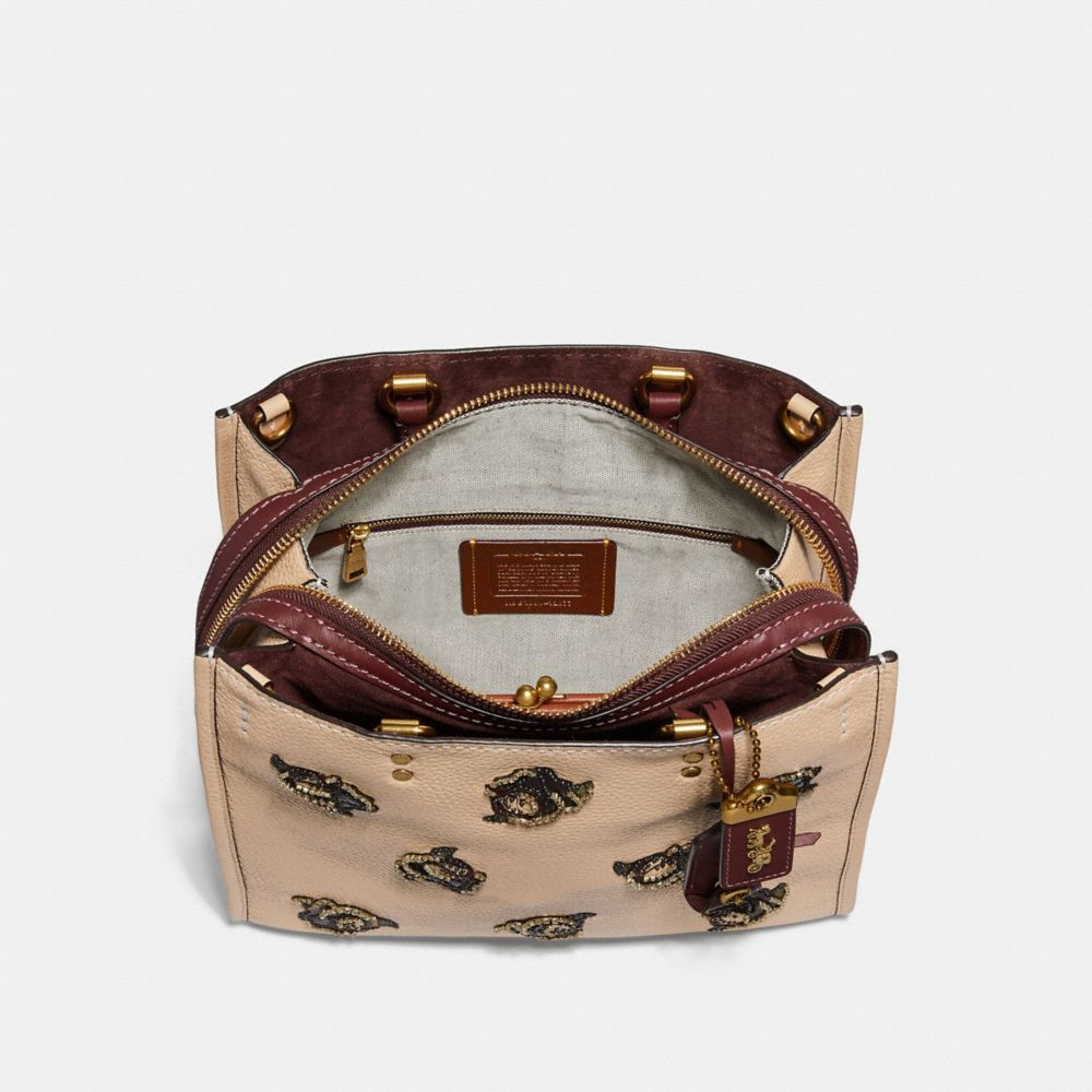 Coach Rogue With Rose Applique Alternate View 2