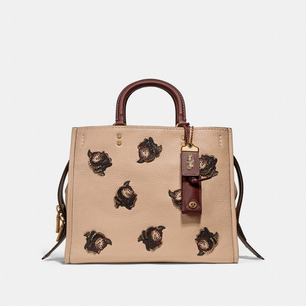 Coach Rogue With Rose Applique