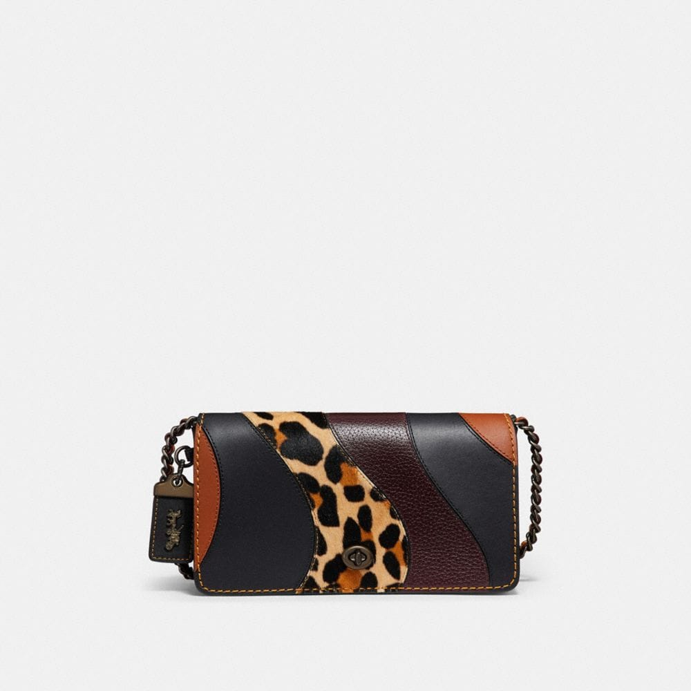 Coach Dinky With Leopard Patchwork