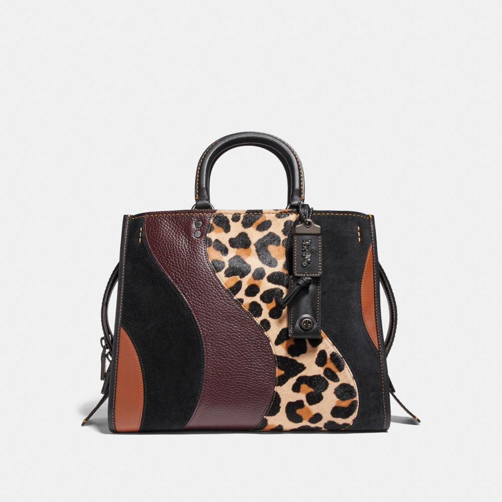 Coach Rogue With Leopard Patchwork