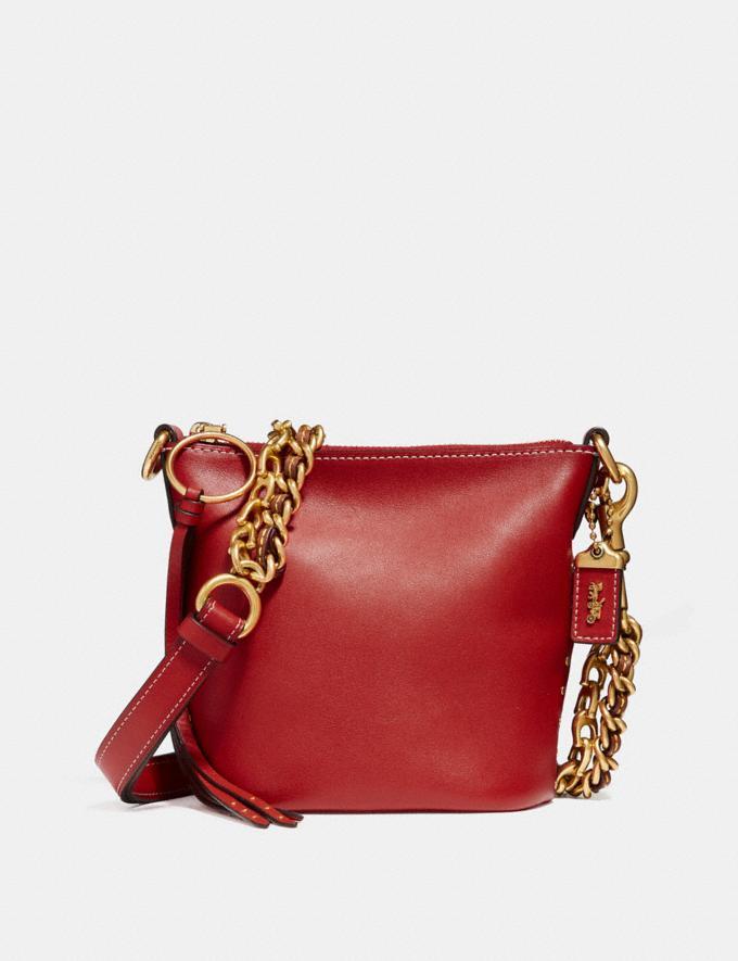 Coach Duffle 12 Ruby/Brass Women Bags Crossbody Bags