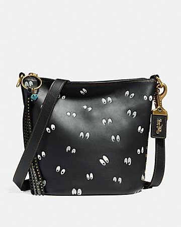 DISNEY X COACH DUFFLE 20 WITH SPOOKY EYES PRINT