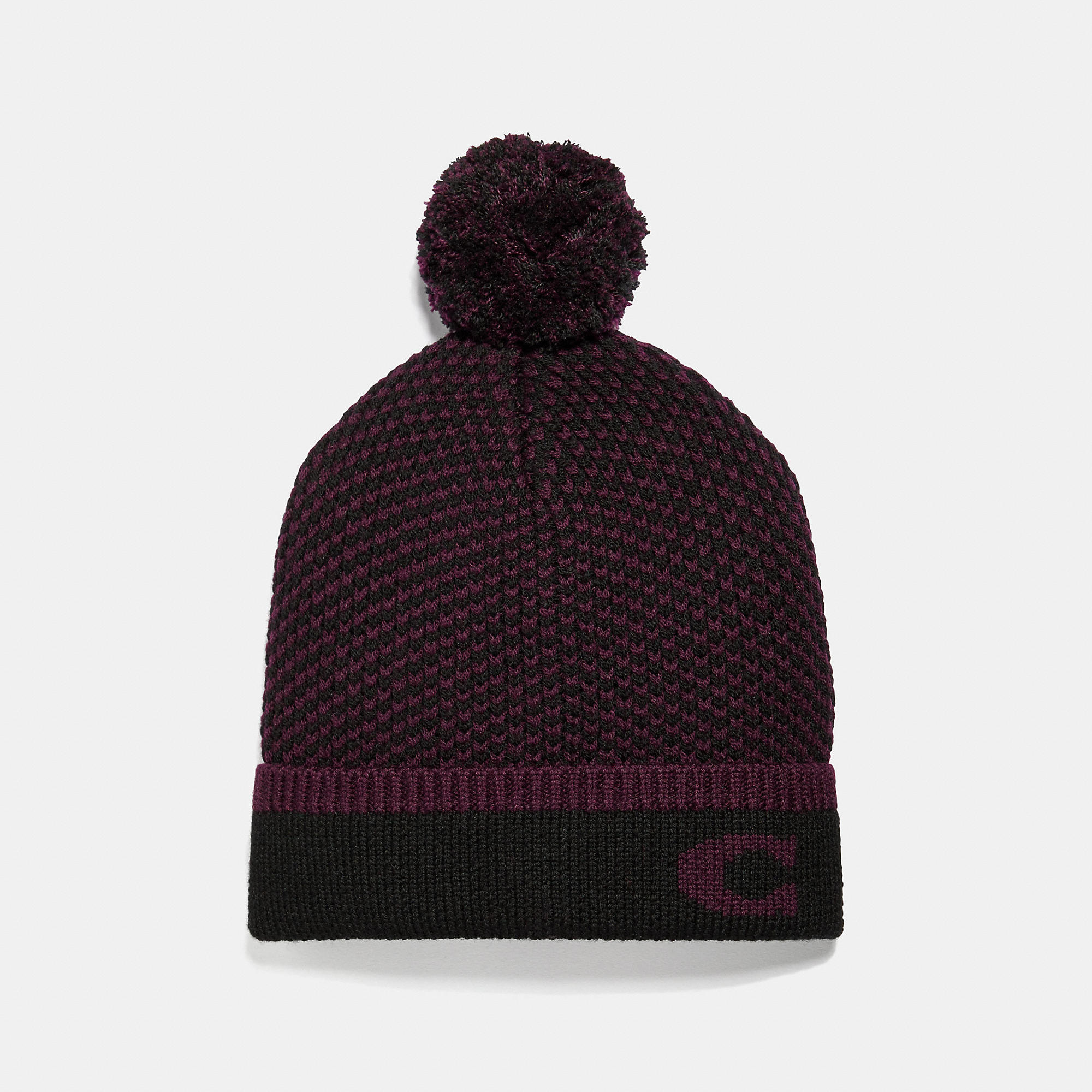 Coach Chevron Knit Hat