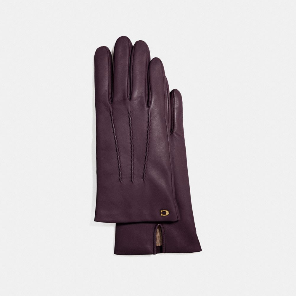 SCULPTED SIGNATURE SHORT LEATHER GLOVES