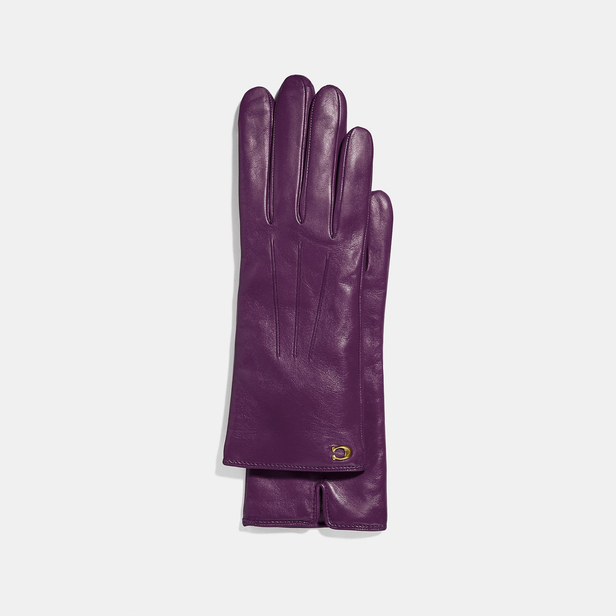 Coach Sculpted Signature Touchscreen Gloves