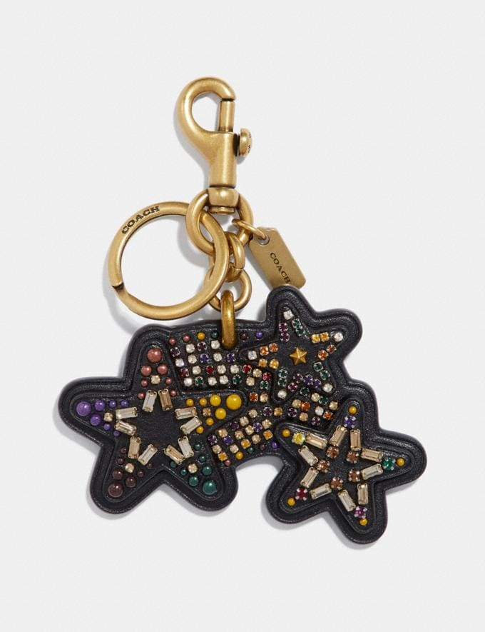 Coach Shooting Star Bag Charm Multi/Gold SALE Women's Sale Accessories