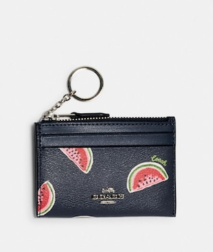 MINI SKINNY ID CASE WITH WATERMELON PRINT