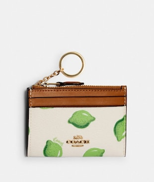 MINI SKINNY ID CASE WITH LIME PRINT