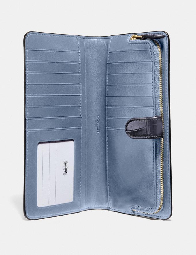 Coach Skinny Wallet Gold/Ink Women Wallets & Wristlets Large Wallets Alternate View 1