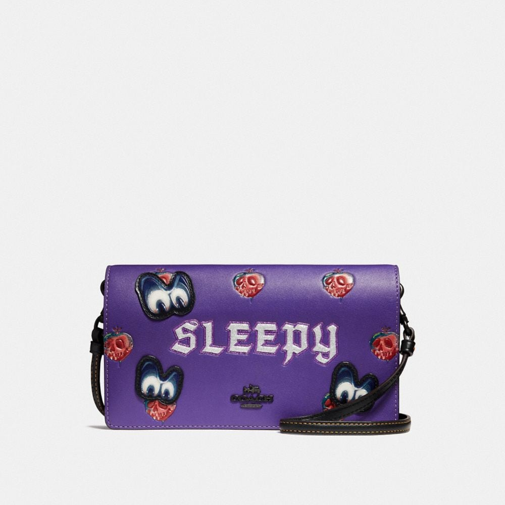 DISNEY X COACH SLEEPY FOLDOVER CROSSBODY CLUTCH