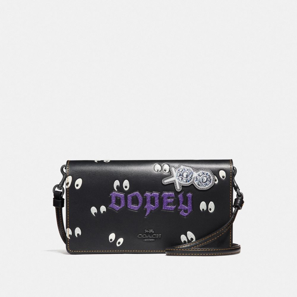 disney x coach dopey foldover crossbody clutch