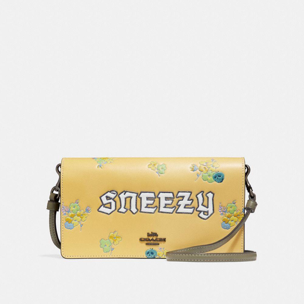 Coach Disney X Coach Sneezy Foldover Crossbody Clutch