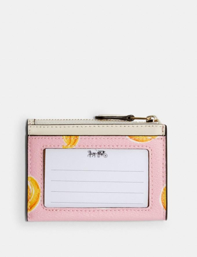 Coach Mini Skinny Id Case With Banana Print Im/Pink Lemonade Multi  Alternate View 1