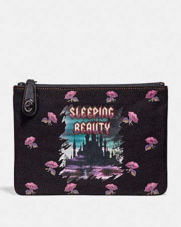 POCHETTE 26 À FERMOIR TURNLOCK DISNEY X COACH LA BELLE AU BOIS DORMANT