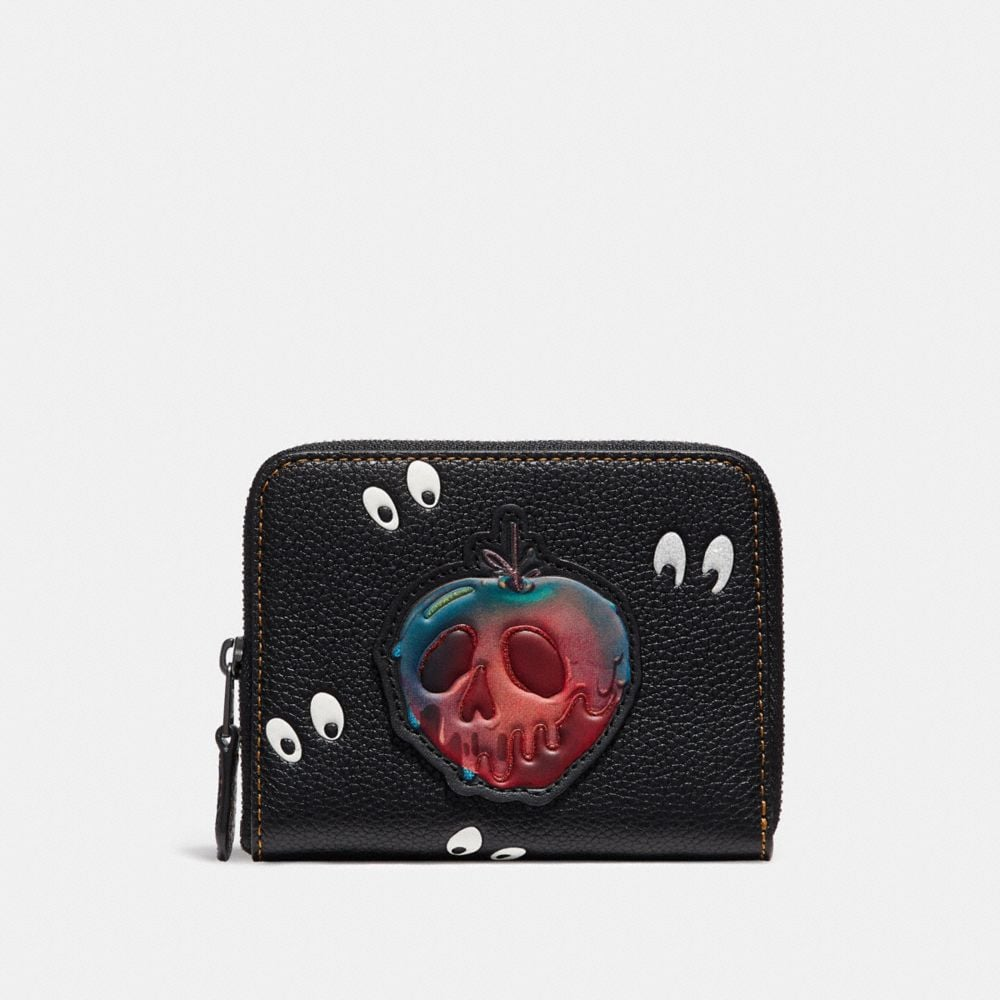 Coach Disney X Coach Small Zip Around Wallet With Spooky Eyes Print