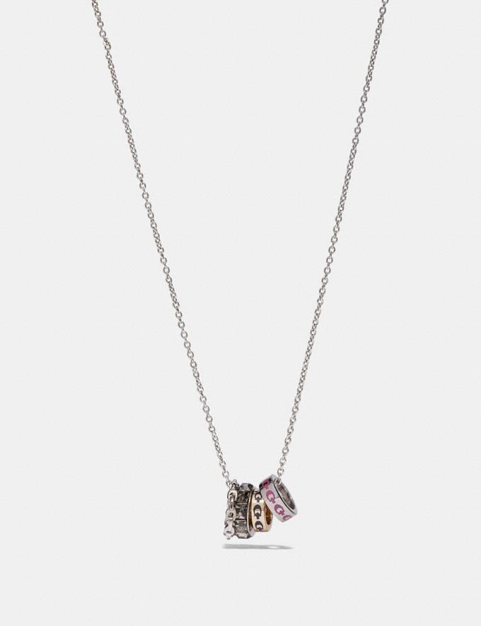 Coach Signature Rondell Necklace Multi/Silver