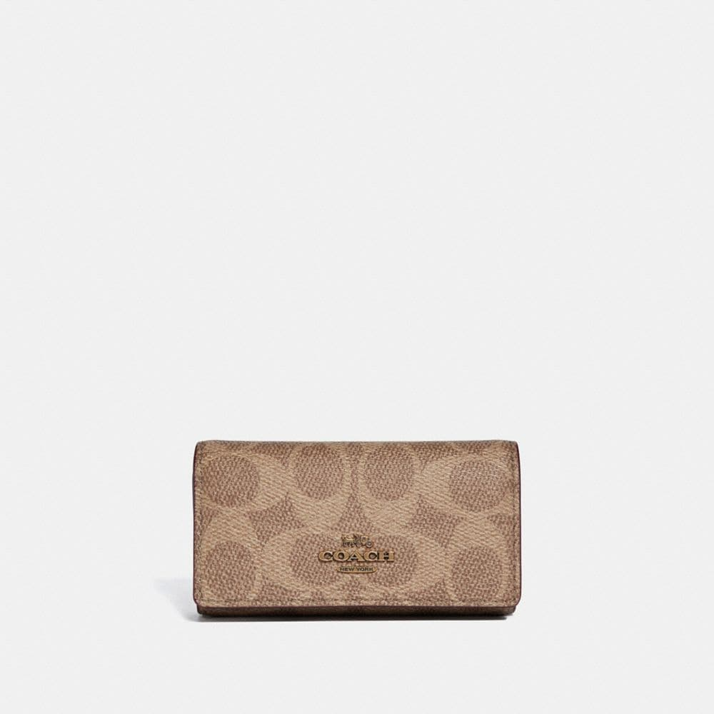 Coach Six Ring Key Case in Signature Canvas