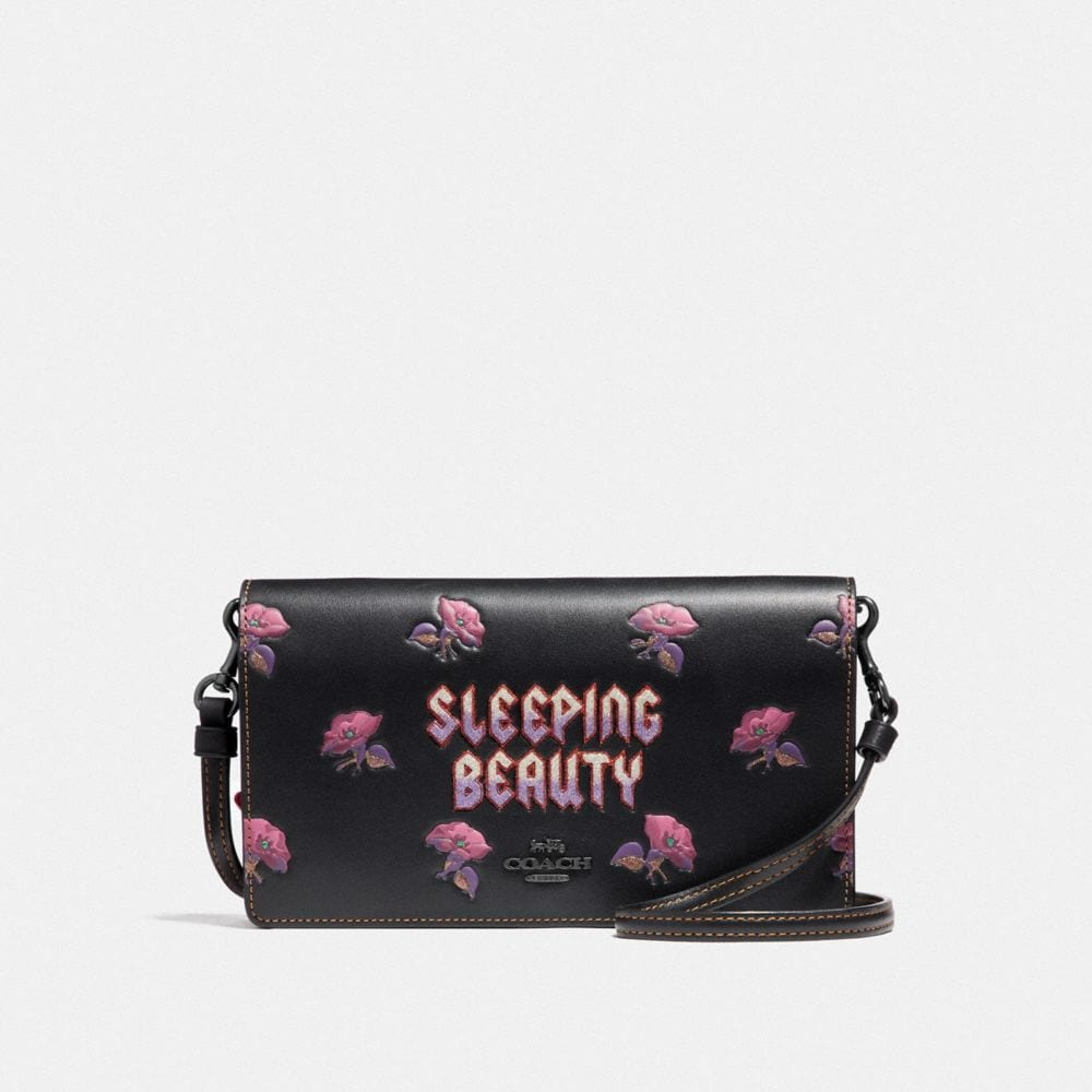 Coach Coach x Disney Sleeping Beauty foldover clutch