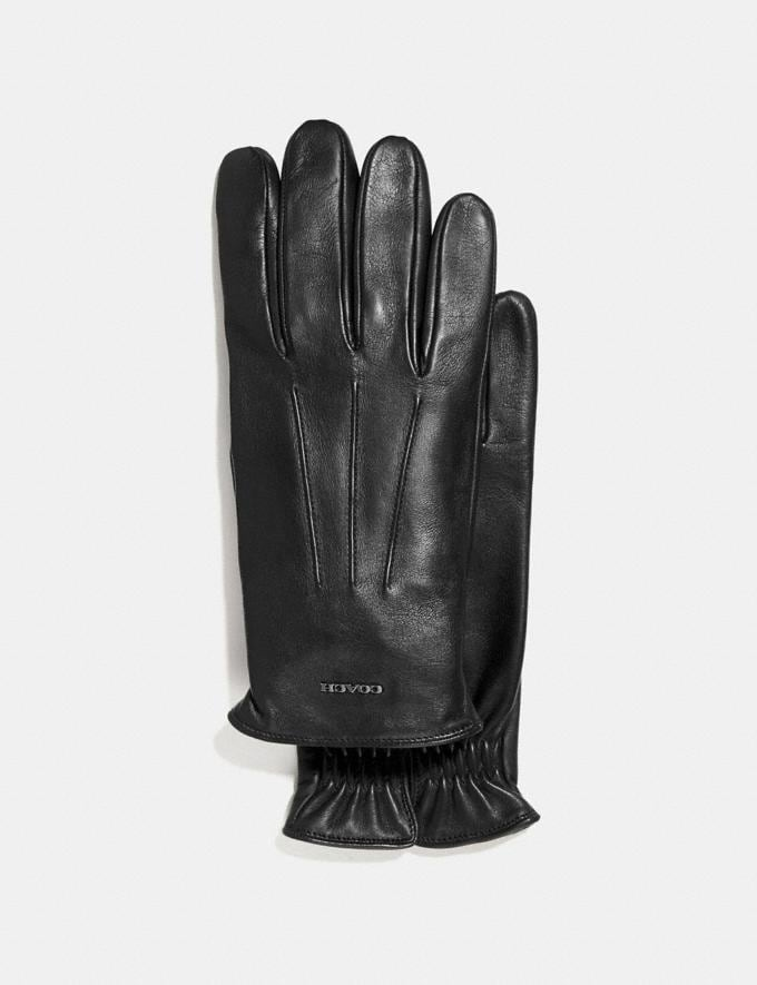 Coach Tech Napa Gloves Black