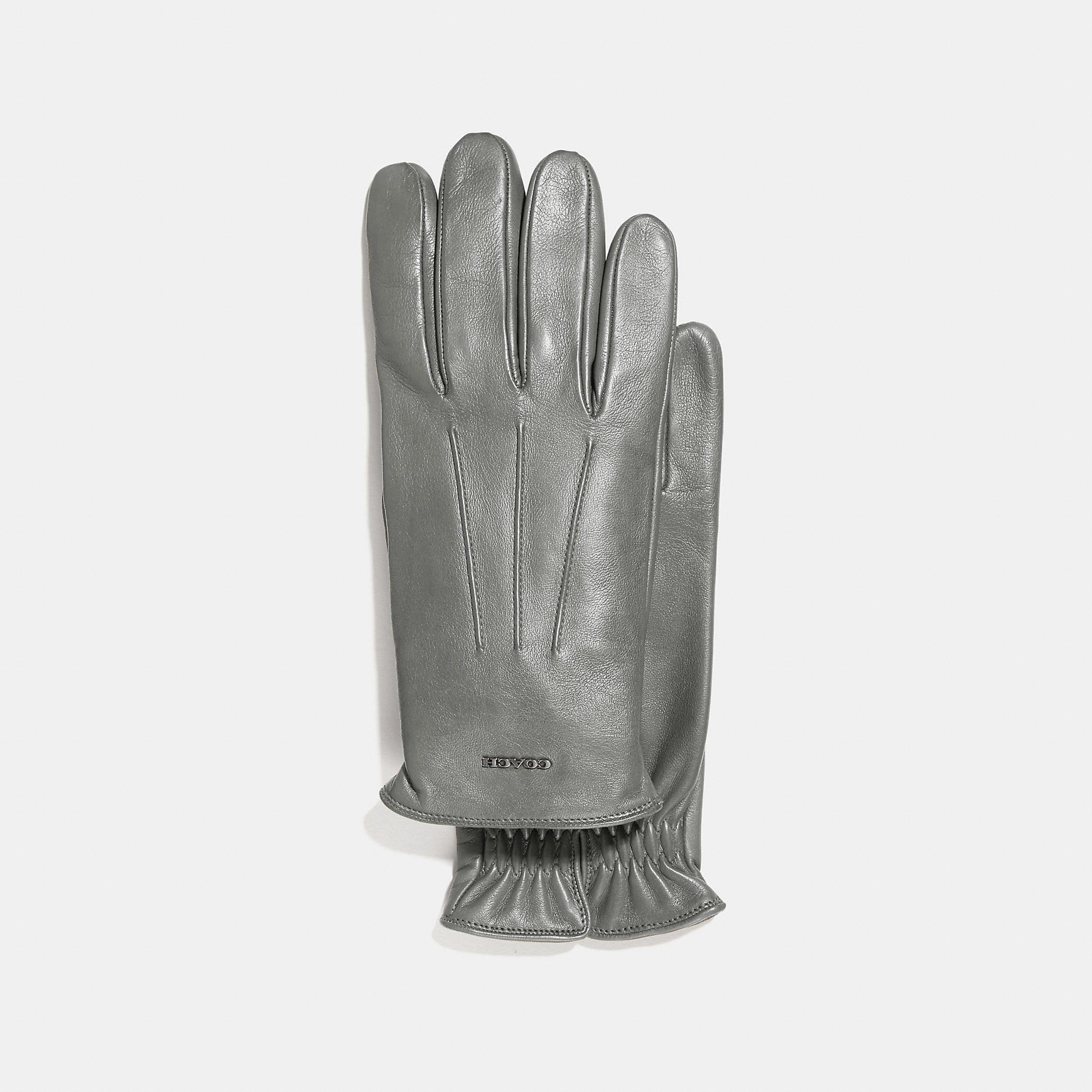 bc1c9c398070c Coach Tech Napa Glove - Men'S In Heather Grey   ModeSens