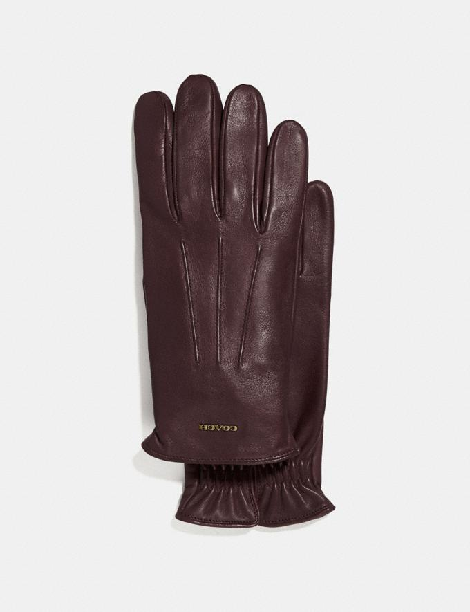 Coach Tech Napa Glove Mahogany