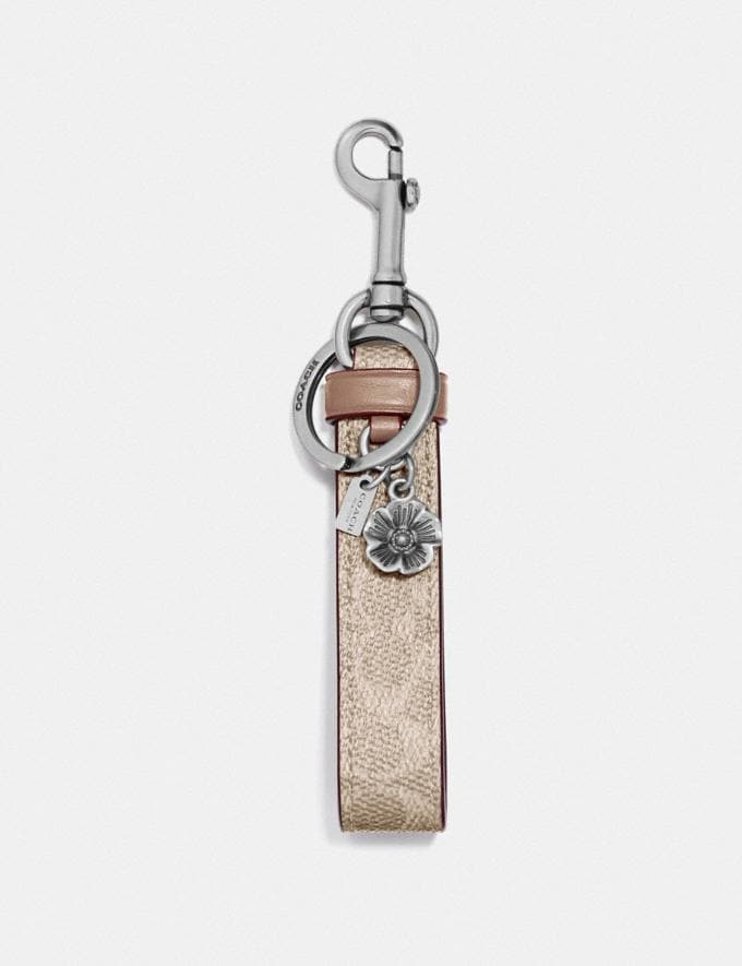 Coach Signature Charm Loop Ni/Sand/Taupe New Women's New Arrivals