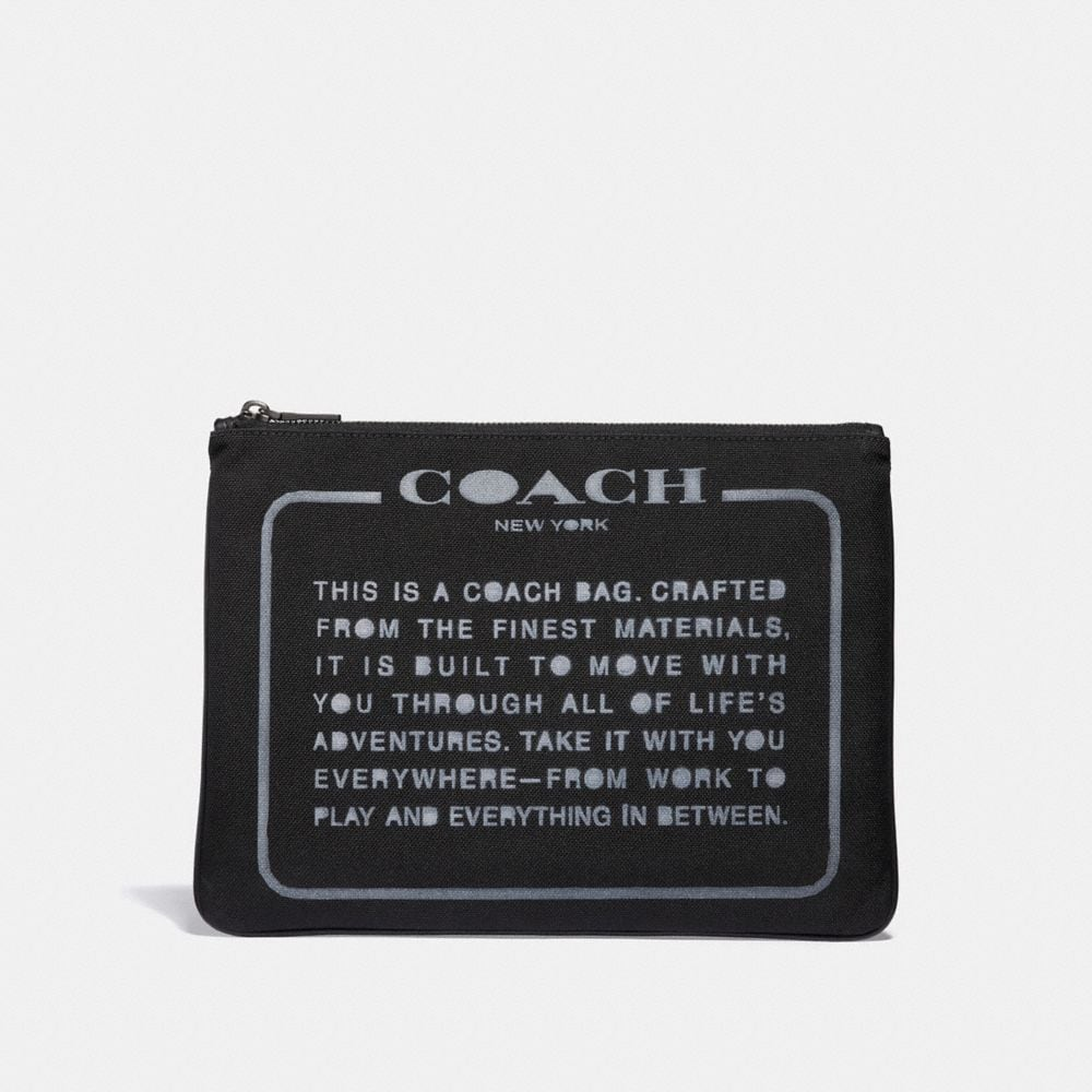 COACH LARGE MULTIFUNCTIONAL POUCH IN CORDURA FABRIC WITH SPRAY STORYPATCH - MEN'S