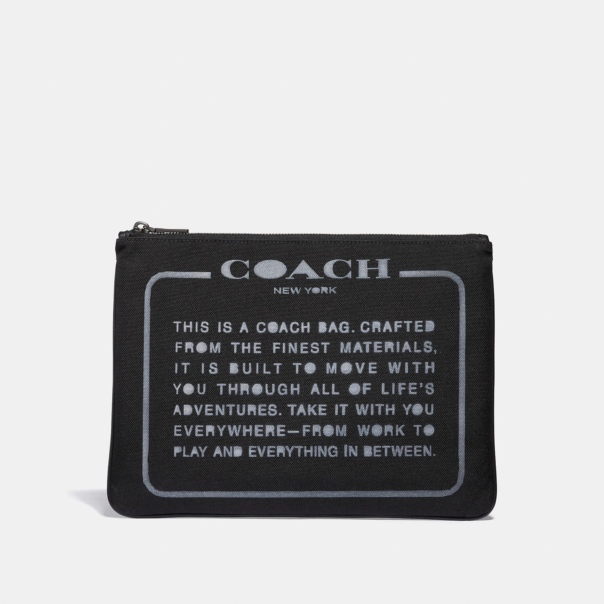 Coach Large Multifunctional Pouch In Cordura Fabric With Spray Storypatch