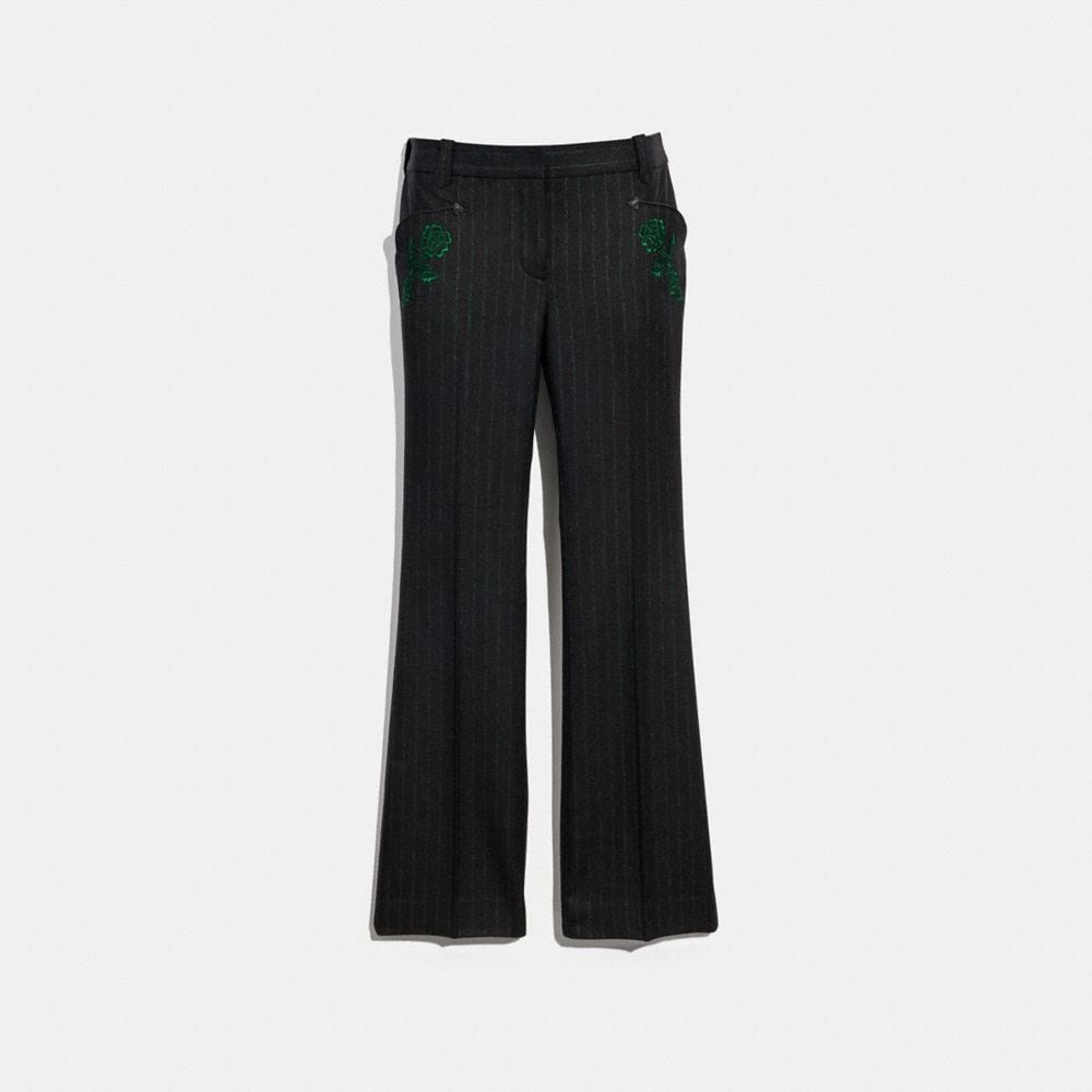 Coach Embellished Tailored Trousers