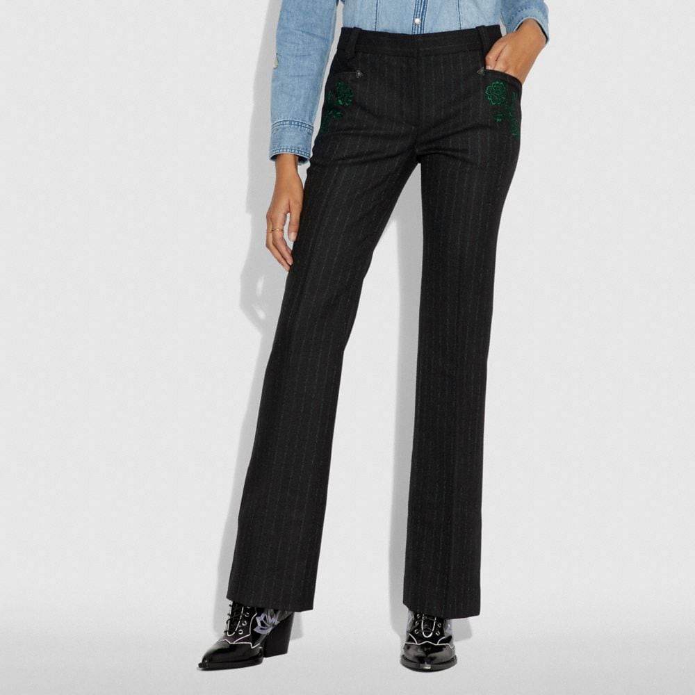 Coach Embellished Tailored Trousers Alternate View 1