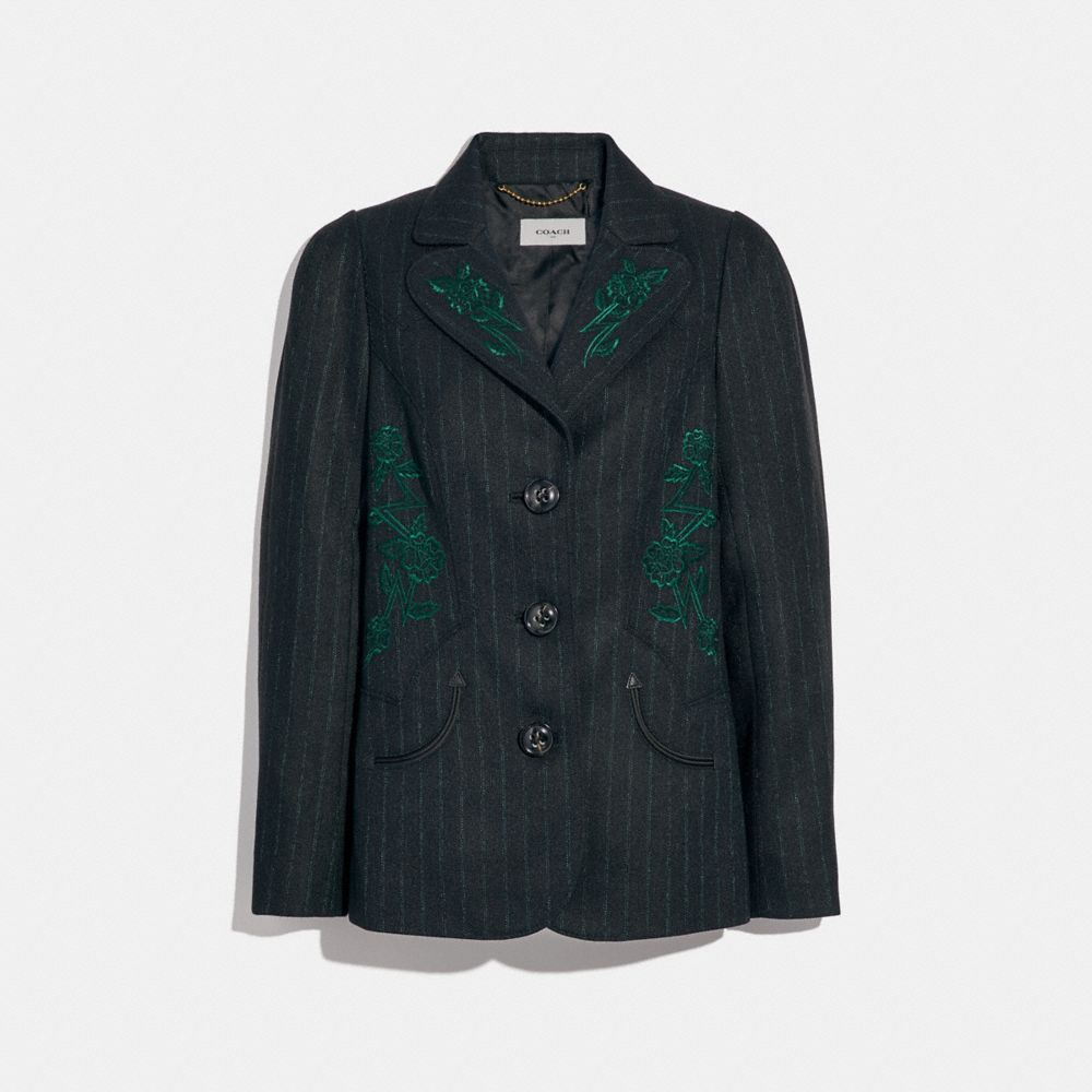 Coach Embellished Tailored Blazer