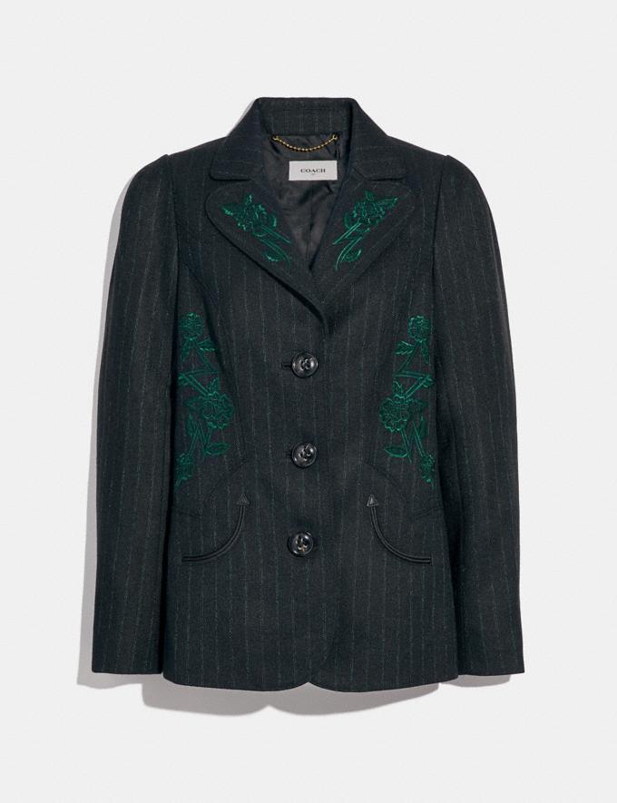 Coach Embellished Tailored Blazer Black