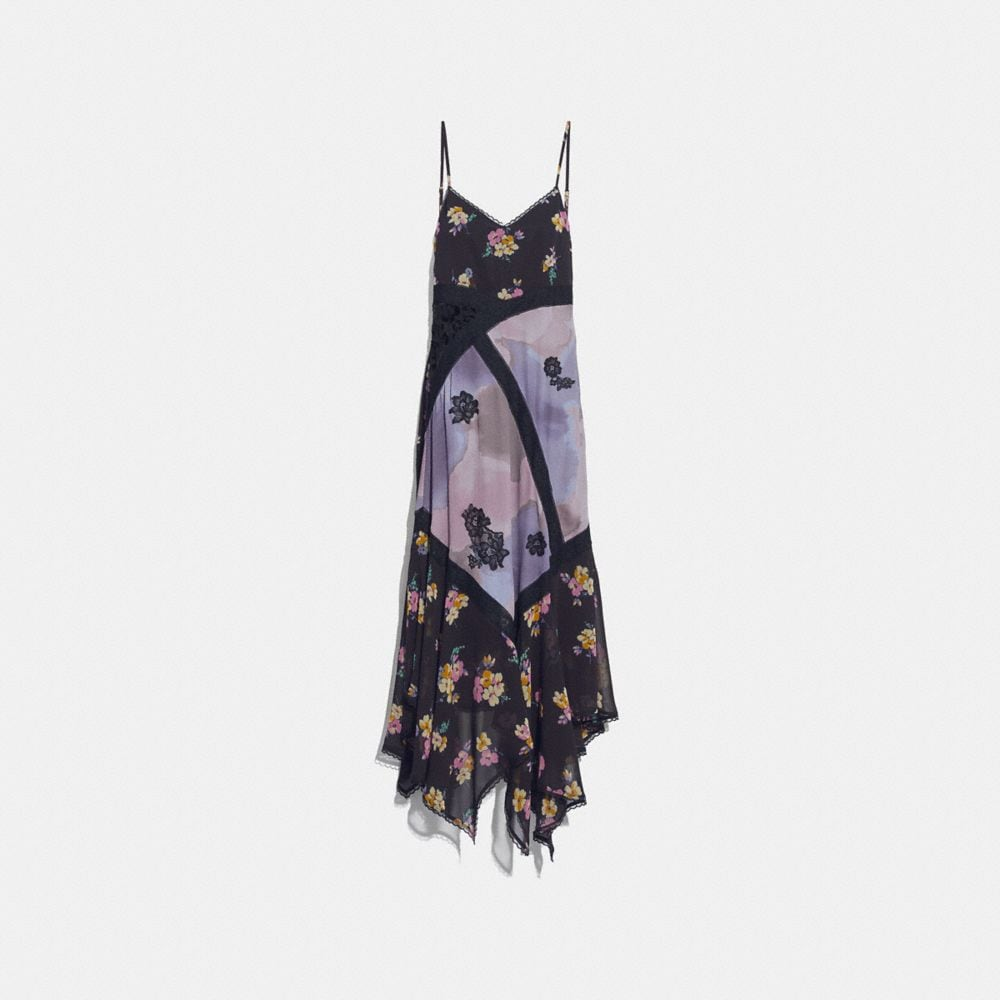 MIXED PRINT SLIP DRESS