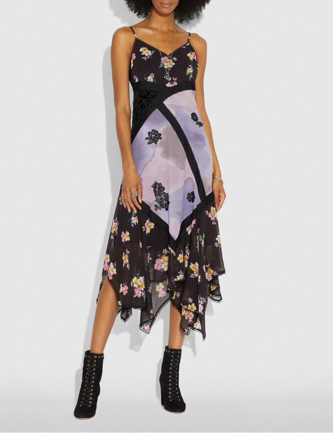 Coach Mixed Print Slip Dress Purple/Grey Women Ready-to-Wear Dresses Alternate View 1