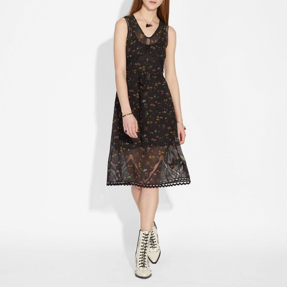 Coach Wildflower Print Sleeveless Dress Alternate View 1