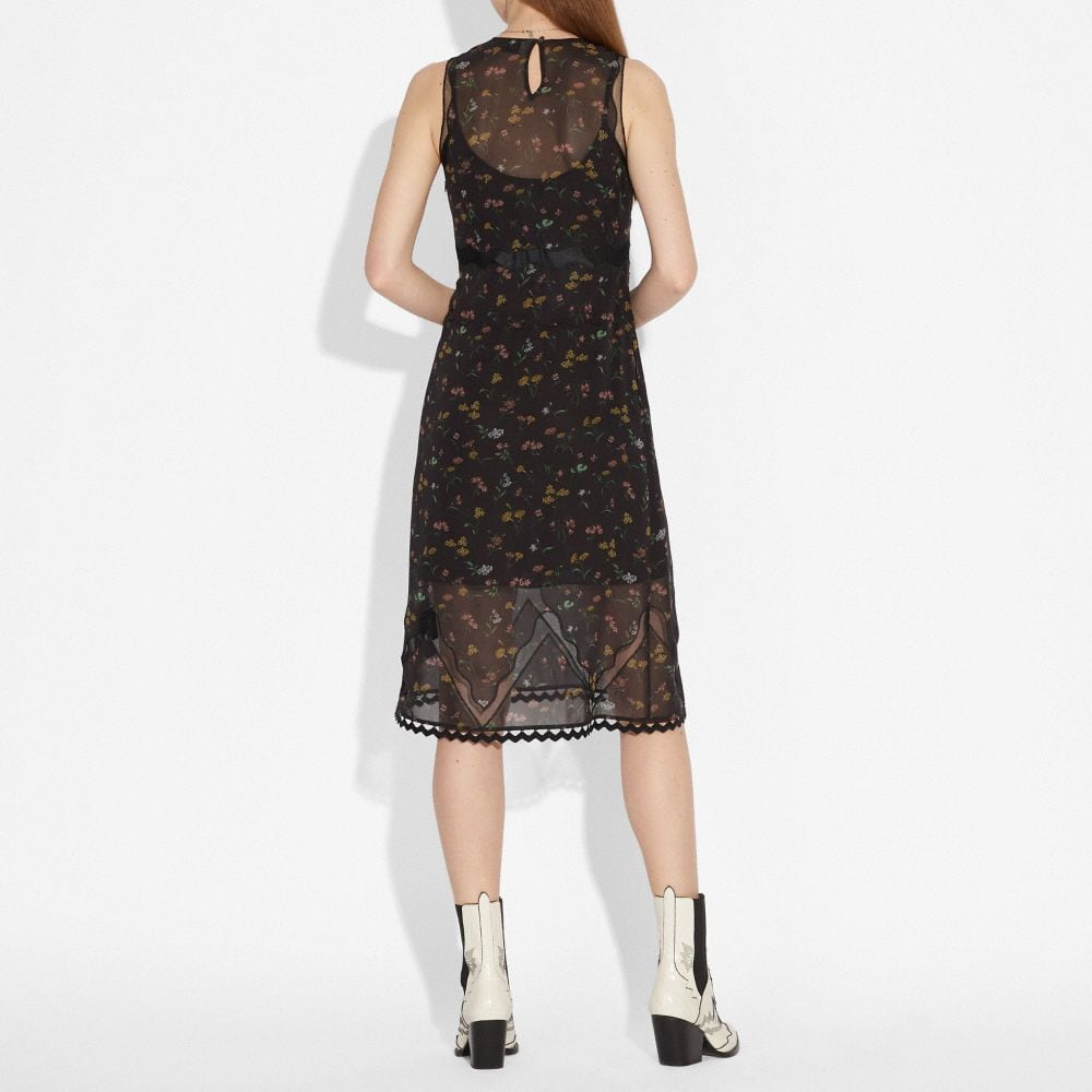 Coach Wildflower Print Sleeveless Dress Alternate View 2