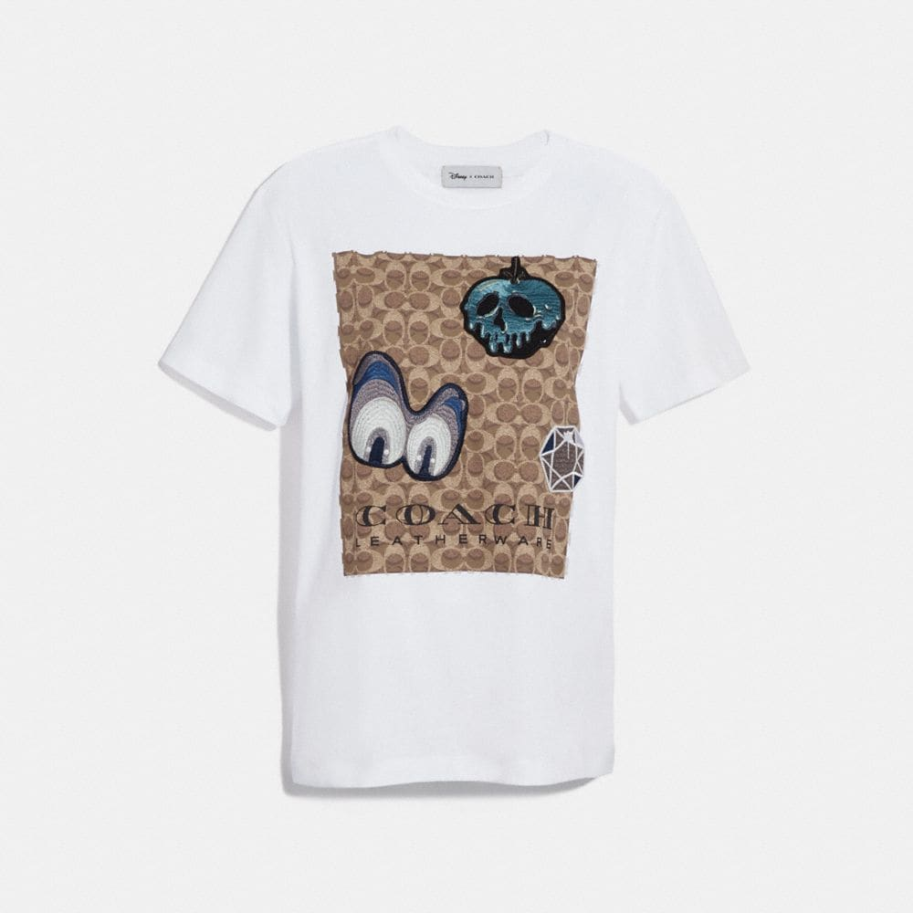 Coach Disney X Coach Signature T-Shirt With Patches