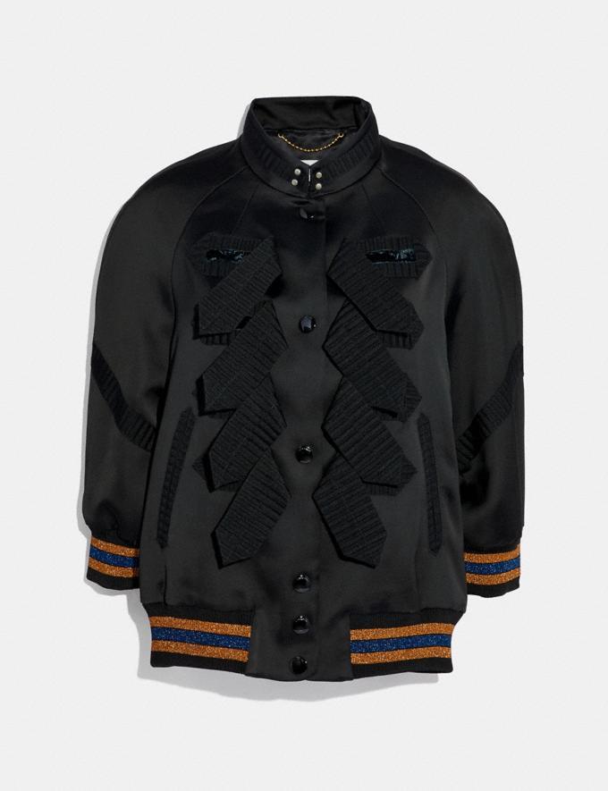 Coach Military Varsity Jacket Black
